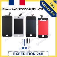 ECRAN LCD RETINA+VITRE TACTILE SUR CHASSIS IPHONE 4/5/5C/5S/SE/6+/6S+/7/7+/8/8+