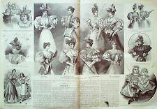 LA MODE ILLUSTREE-1896-16-avec PATRONS-VOIR MODELES DETAILLES