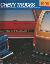1990 CHEVY TRUCK BROCHURE -454 SS PICKUP-C/K1500-2500-3500-S10-BLAZER-SUBURBAN