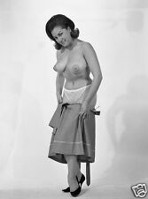 1960s pinup pulling off skirt showing huge her breasts 8 x 10 Photograph