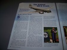 "VINTAGE..DOUGLAS DC-3 ""KAIMAI CRASH""..HISTORY/PHOTOS/DETAILS...RARE! (204P)"