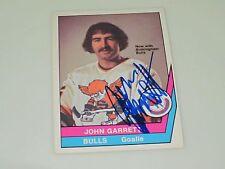 JOHN GARRETT AUTOGRAPHED 1977-1978 OPC O-PEE-CHEE WHA CARD