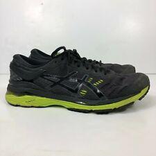ASICS GEL-Kayano 24 T749N Men's Size 12 Athletic Running Shoes Black/Neon Green