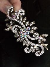 Bridal Bridesmaid Prom - Antique Style AB Crystal side tiara, Alice Band