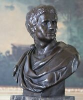 Caesar Classical Military Art Sculpture Bronze Marble Statue Portrait Bookend