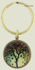 Earth Dreams GOLDEN TREE KEYCHAIN Key Ring Bronze Plated Fall Colors - Gift Box