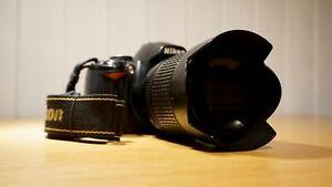 Nikon D3000 10.2MP Digital SLR Black Camera w/ 18-105mm Original Nikon Lens