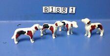 (B188.1) playmobil 4 chiens de chasse à court ferme, forêt