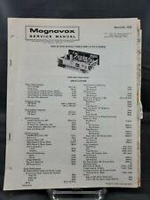Magnavox Repair Service Parts Manual For 1975 R331 & R332 Series Tuner Amp...