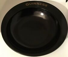 Vintage 60's Guinness Black Glass Ashtray/Coin Dish Nazeking 'Regicor' 16.2cm D