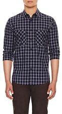 NWT $225 Theory Barham Button Down Shirt Blouse Buell Blue MEN [SZ Large ] #305