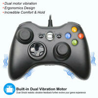 For Microsoft Xbox 360 Wired Controllers Joystick PC Windows USB