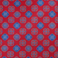 BRIONI Mens Red Navy Silver MEDALLIONS Dis. 2S198 Handmade Silk Tie Italy NWOT