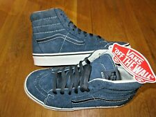 Vans Womens Sk8-Hi Hairy Suede Sky Captain Blue Suede Skate Shoes Size 8 NWT