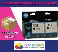 2 CARTUCCE ORIGINALI HP 303 NERO T6N02AE  HP ENVY 6220/6230/6232/6234 7130
