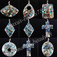 New Zelanian Abalone Shell Pearl Gemstone Beads Pendant Jewelry MBN066