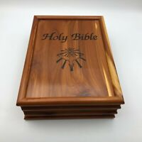 1991 KJV Holy Bible Old + New Comfort Edition West Allis WI Union Cedar Box  F8