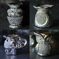Silver Diamante Sparkly Wax Melt Oil Burner Tea Light Candle Holder Home Decor