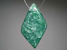 """Emerald"" Green Aventurine Quartz Gemstone Bead Gemstone Jewelry Design Pendant"