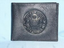 UNITED STATES AIR FORCE Leather BiFold Wallet NEW black