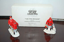 Department 56 Christmas in the City - The Fire Brigade 55468 Set of 2 X780