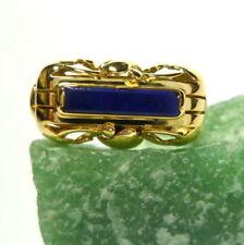 Anelli di lusso con gemme blu naturale lapislazzulo