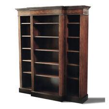 Tall Mahogany Bookcase with Marquetry Inlay