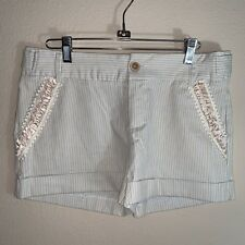 Rampage Juniors Striped Shorts Size 5 Beautiful Pocket Detail
