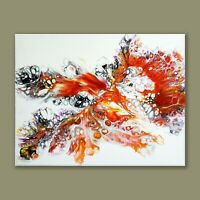 "ACRYLIC PAINTING ORIGINAL ARTWORK 11"" x 14"" CANVAS ABSTRACT ART HOME WALL DECOR"