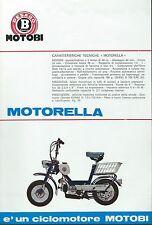 Motobi Pesaro - Volantino (Sheet) Motorella 49 cc. Ciclomotore  primi anni 70