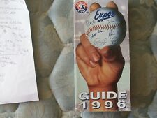 1996 MONTREAL EXPOS MEDIA GUIDE Press Book Program Yearbook Baseball Magazine AD