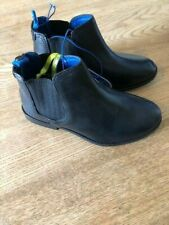 BOYS BLACK TED BAKER CHELSEA BOOTS LEATHER UK 2 EU 35 BNWT WEDDING SCHOOL SHOES