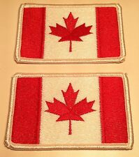 2 CANADA Flag Patch With VELCRO® Brand Fastener Military Canadian Emblem #6