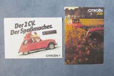 Konvolut Citroen 2 CV Ente Broschüre Prospekt Poster Werbung 1980er