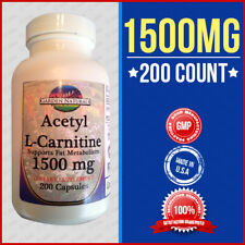 Acetyl L-Carnitine 1000mg+500=1500 Energy-Chronic Fatigue Anti Aging -200Cap USA