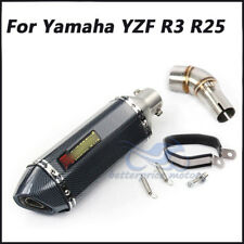 Slip on R3 Exhaust Muffler Pipe Mid Link Pipe Exhaust System For Yamaha YZF R3