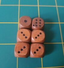new, 14mm d6, wood 20x 14mm MISPRINT Wooden Dice