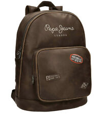 Pepe Jeans - mochila para Portátil Duetone Marrón-42x31x13 cm-