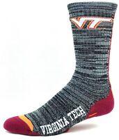 Virginia Tech Hokies NCAA Gray and Black RMC Vortex Crew Socks