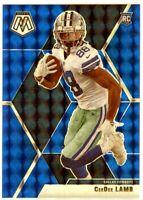 CEEDEE LAMB 2020 Panini Mosaic Prizm BLUE REFRACTOR Rookie Card RC 95/99 Cowboys