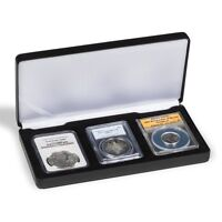 Certified Coins Slabs Case 3 Graded PCGS NGC Deposit Box Display Box Lighthouse