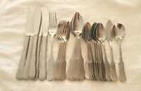 Lifetime Cutlery LCU29 Colonial Tipped Stainless Flatware 26 Pieces