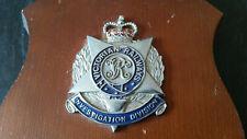 rare vintage victorian railways investigation division hat badge on plaque