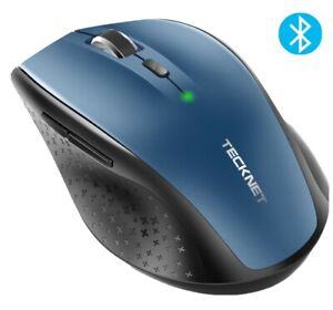 Tecknet Cordless Mouse Optical Wireless USB Receiver for Laptop Optical Blue