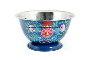 Indian Floral Tableware Decor Hand Painted Kitchenware Bowl Serving Bowl Ethnic