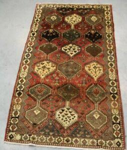 old Handmade traditional  Parsian Qashqai Wool Rug 280cm x 150cm