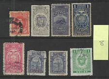 ECUADOR Classics...Revenue Stamps...Used...8 Diff