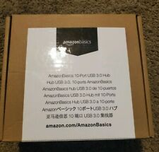 AmazonBasics 10 Port USB 3.0 Charging Hub Docking Station - New In Sealed Box