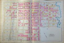 1891 E. Robinson Upper East Side Manhattan Original Map Atlas E. 97-108Th Street