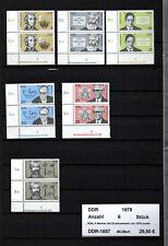 DDR, 6 Marken mit Druckvermerk von 1978 postfrisch (1657)